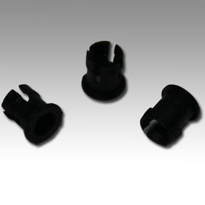 Led Mounting Hardware Led Holder Clip 3Mm Nylon Black (10 Pieces)