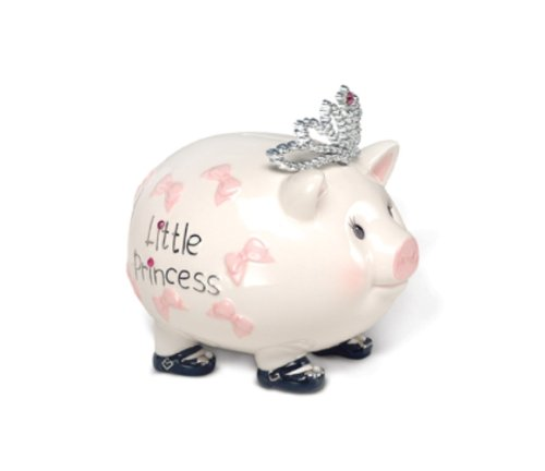 Mud Pie Baby Little Princess Giant Piggy Bank (Discontinued by Manufacturer)
