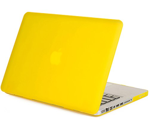"Mosiso - Yellow 15-Inch Rubberized Hard Case Cover For Macbook Pro 15.4"" (Model A1286) Aluminum Unibody With Cd-Rom Drive (Yellow)"