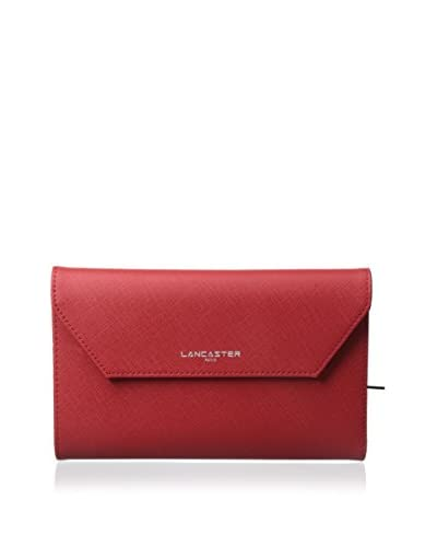 Lancaster Paris Women's Adele Saffiano Wallet, Red
