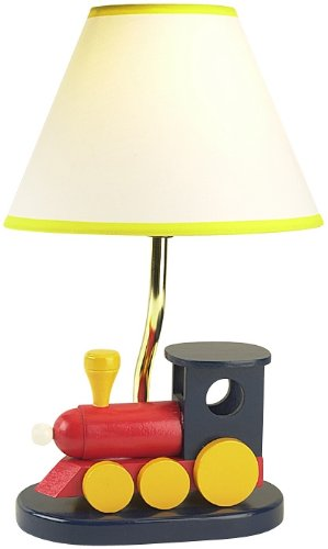 Kids Colorful Choo-Choo Train Table Lamp
