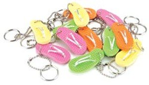 Party Favor 12-Pack: Flip Flop Keychains front-1059365