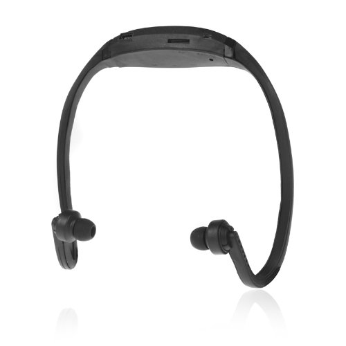 Docooler Sport Mp3 Wma Music Player Tf/ Micro Sd Card Slot Wireless Headset Headphone Earphone (Black)