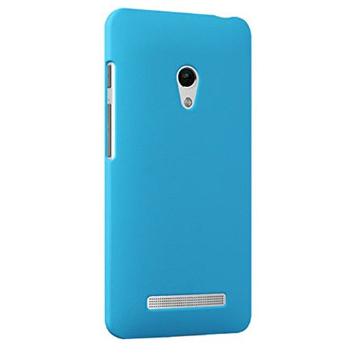 ASUS ZenFone 5 スリムフィットケース AIR SLIM DESIGN [ A500KL 16GB 32GB SIMフリー LTE / 楽天モバイル版 対応 ] 薄型軽量デザイン19g ワンタッチ装着 Slim Fit Cover Case PCハード素材MY WAY 専用パッケージ:全5色 (ASUS ZenFone 5, Sky Blue (水色))