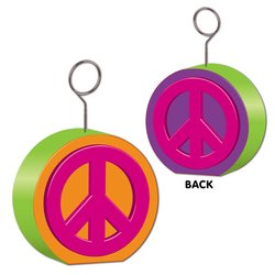 Peace Sign Photo/Balloon Holder Party Accessory (1 count)