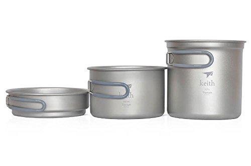 Titanium Pot Camping Cookware Titanium Cookware front-428549