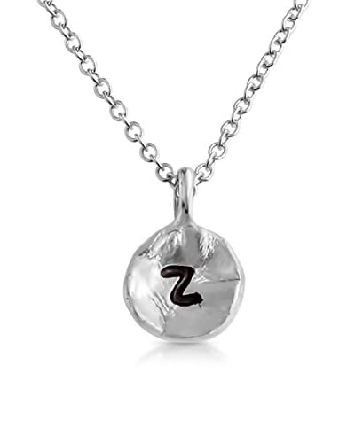 Belcho Hammered Z Initial Pendant Necklace