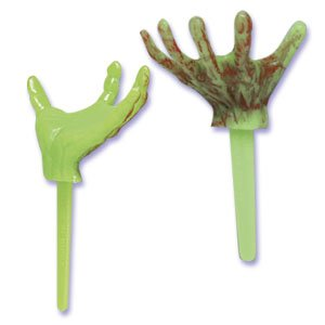 12 ~ Halloween Zombie/Monster Hand Picks ~ Designer Cake/Cupcake Topper ~ New!!!!!