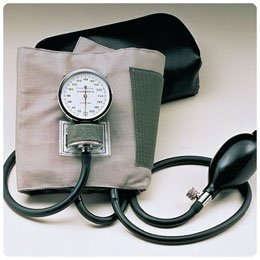 Aneroid Sphygmomanometer - Large Adult Cotton Cuff (Cotton Blood Pressure Cuff compare prices)
