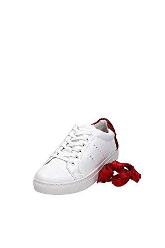 Lola Cruz 238Z10BK Sneaker Donna Pelle Bianco Bianco 39