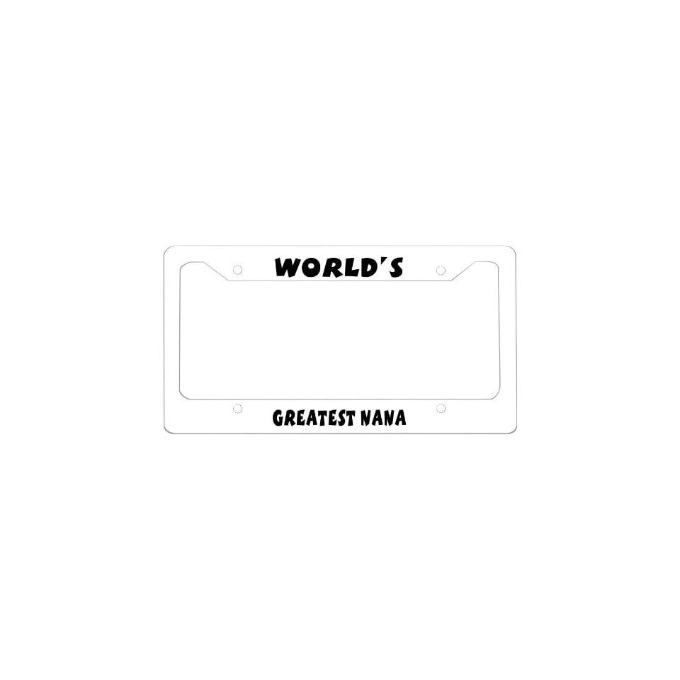 Worlds Greatest Nana Photo License Plate