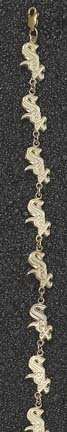 Chicago White Sox Sox 1 2 8 Bracelet -14KT Gold Jewelry by Logo Art