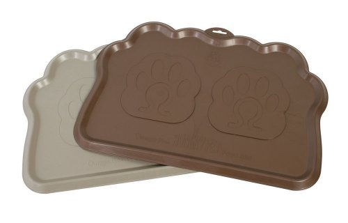 Omega Paw Hungry Pet Food Mat, Pebble/Brown