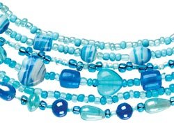 Cousin Bead Girl Glass Bead Kits W/Stretch Cord Turquoise 325-2001; 3 Items/Order