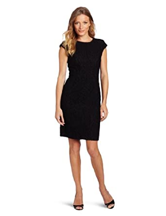 Anne Klein Women's Lace Dress, Black, 10