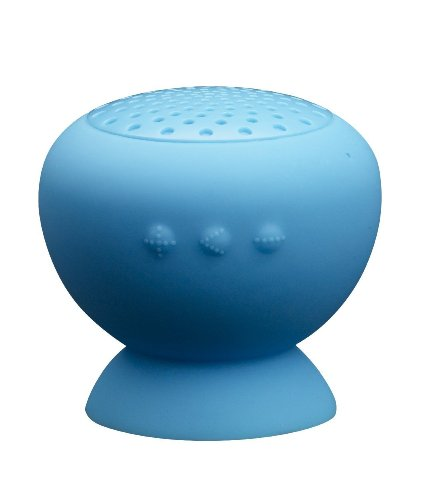 Baudio Mushroom Mini Digit Bluetooth Speaker Wireless Waterproof Silicon Suck Cup Mini Outdoor Sports Portable Wireless Speaker For Samsung, Iphone,Ipad, Nokia, Htc,Tablets Pc,Notebook, Bluetooth Car Kit Phone (Blue)