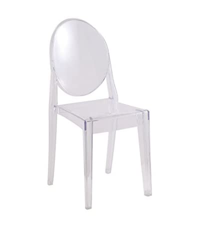 Manhattan Living Side Chair, Clear