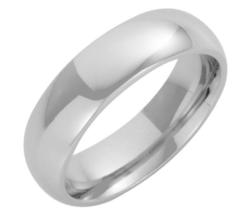 Platinum Wedding Ring, Heavy Court Shape, 6mm Band Width