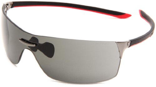 Tag Heuer Squadra 5502 Sport Sunglasses,Lava/Black/Red Frame/Grey Lens,one size