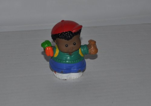 31pcJ4QUegL Cheap  Little People Michael with Carrots in Right Hand (2001) Retired Replacement Figure   Classic Fisher Price Collectible Figures