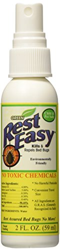 Rest Easy - Environmentally Friendly Bed Bug Spray - Twin Travel Pack, net 4fl. oz