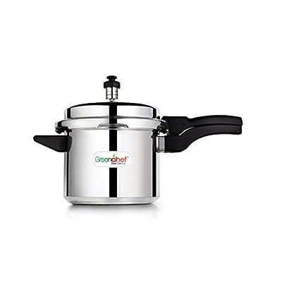 Greenchef Namo Alluminium Pressure Cooker 3 Litres, Silver