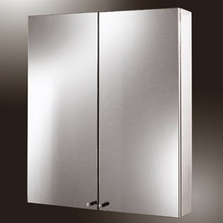 Infinity Double Maxi Stainless Steel Bathroom Cabinet