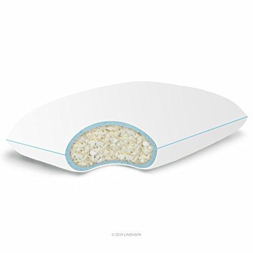 LINENSPA Shredded Memory Foam Pillow with Gel Memory Foam – Standard