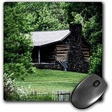 WhiteOaks Photography and Artwork - Old Buildings - Homestead Nestled in the Mountain is a photo of a old cabin - MousePad (mp_192972_1)