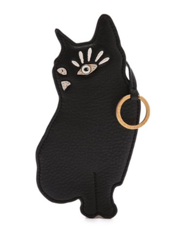 Marc By Marc Jacobs Marc by Marc Jacobs Rue the Cat Coin Pouch w Keychain Black