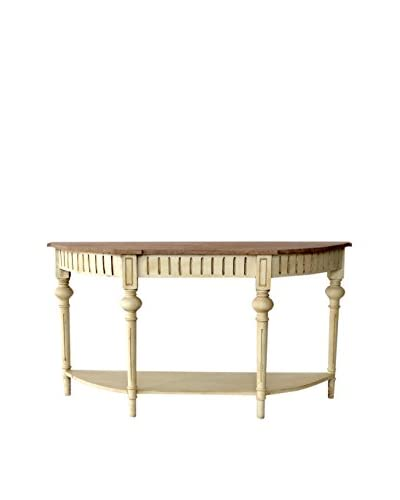 Hampstead Console Table, Cream/Brown