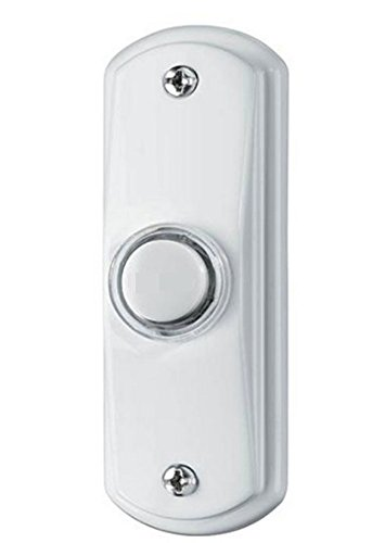 Broan (NuTone) White Illuminated Door Bell Switch - Surface Mount - 10v to 16v - Lighted Peach Lamp - Push Button - RC808WH (Nutone Doorbell Button Bulb compare prices)