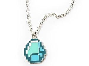 Minecraft Diamond Pendant Necklace