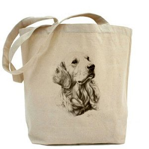 mike-sibley-golden-retreiver-cane-tela-cotone-shopper-borsa