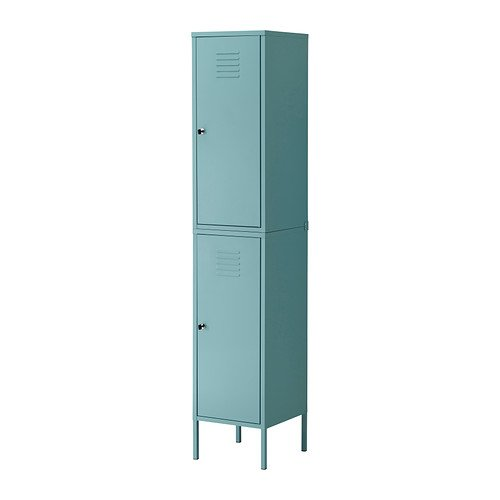 ikea ps cabinet tall locker turquoise green blue metal locking. Black Bedroom Furniture Sets. Home Design Ideas
