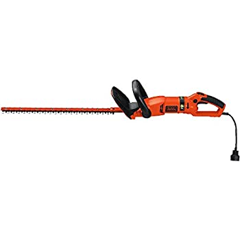 BLACK+DECKER HH2455 3.3-Amp HedgeHog Hedge Trimmer with Rotating Handle And Dual Blade Action Blades, 24
