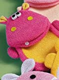 Bath Buddy Animal Wash Mitt Puppet (Hot Pink Hippo)