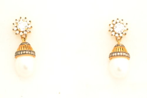 Fashion Balika Fashion Jewelry Gold-Plated Dangle & Drop Earring For Women Gold-BFJER078 (Yellow)
