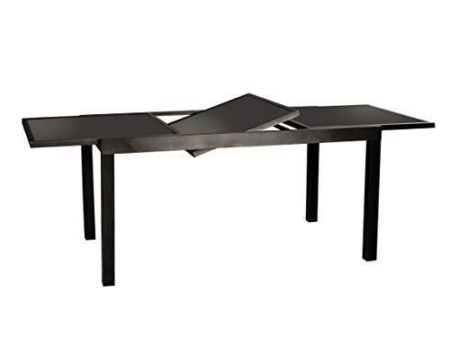 Ausziehtisch-Milano-Esstisch-Aluminium-Tisch-mit-Glasplatte-in-schwarz-ca-150210-x-90-cm