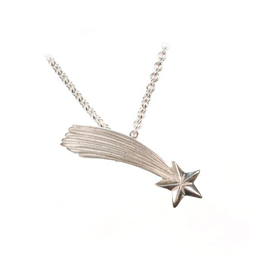 Lucky Shooting Star Sterling Silver Necklace