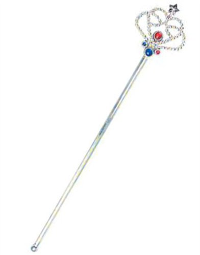 Costume Fairy Princess Queen Silver Magic Wand Scepter
