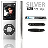 8GB Silver Mp3 and Mp4 Player in 1 with fm radio video player ebooks reader and more...