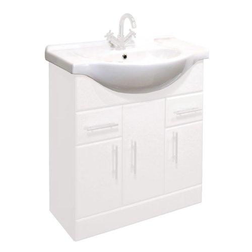 Trueshopping 750mm Standard Bathroom Basin Sink for Classic Vanity Unit