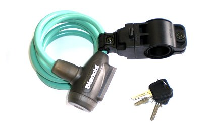 ビアンキ(Bianchi) ワイヤーロック 150cm ホルダー付 (TP011)