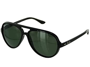 Ray Ban Rb4125 Cats 5000 Shiny Black Frame/Green Polarized