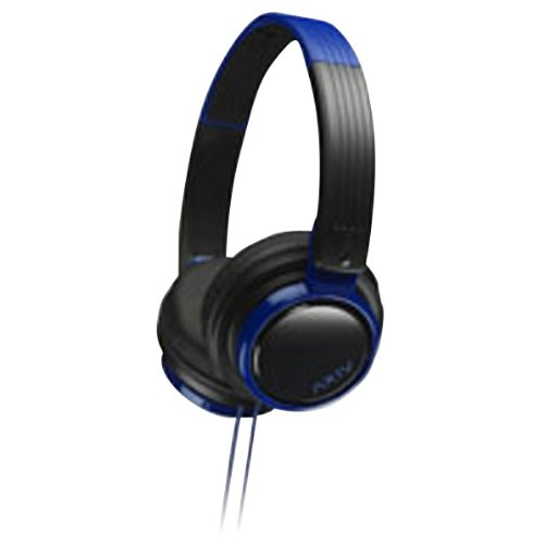 JVC Victor Head-band Foldable Headphones | HA-S200-BA Black & Blue (Japanese Import)