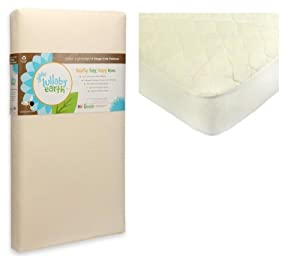 Lullaby Earth Super Lightweight Crib Mattress - 2 Stage with Organic Quilted Pad Cover