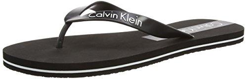 Calvin Klein - Infradito uomo, Nero (BLACK/WHITE CL1), M
