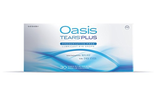 Oasis TEARS PLUS Preservative-Free Lubricant Eye Drops, 30 containers, 0.3 ML/0.01 FL OZ (Natural Oasis compare prices)