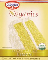 Dr. Oetker Organics Cake Mix, Lemon, 16.2-Ounce Boxes (Pack of 12)